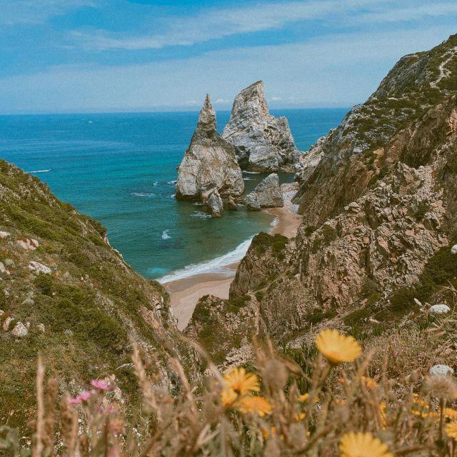 Blick auf die Küste in Portugal.