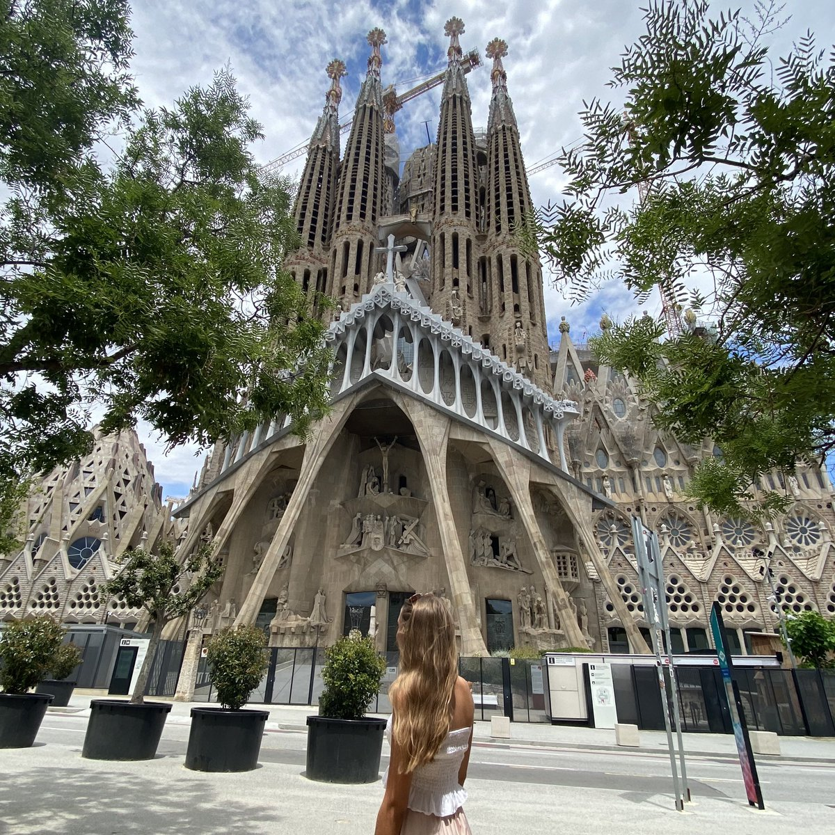 Ein Anblick, den man so wohl kaum wieder erleben wird. Die Sagrada Família…