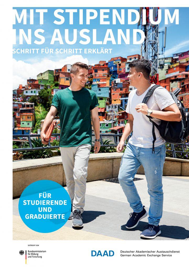 """Titelbild der Broschüre """"Mit Stipendium ins Ausland""""."""