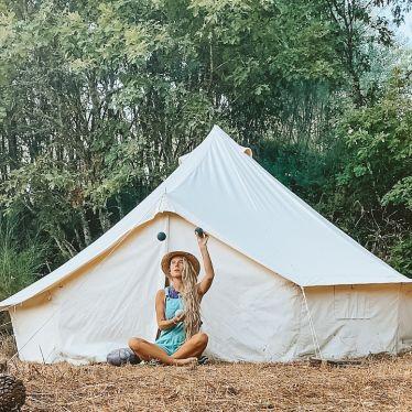 meet my new home 🤹🏼 #farmlife #portugal #yurt #juggling #tankdrum…