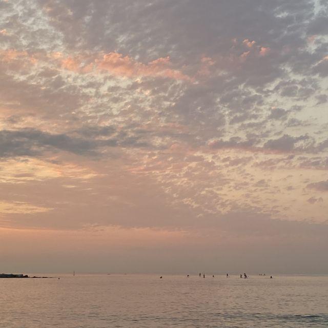 Das Meer kurz vor Sonnenuafgang.,