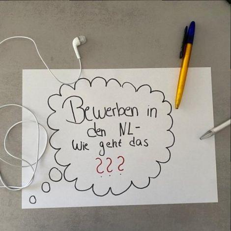 Gedankenblase: Bewerben in den Niederlanden- Wie geht das?