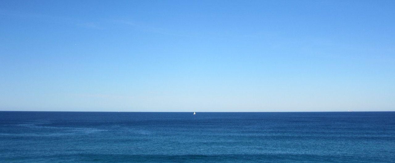 Segelboot vor der Küste Australiens.
