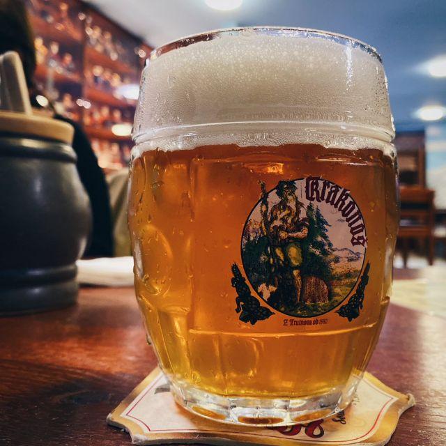 Foto von einem Bier in einem tschechischen Restaurant