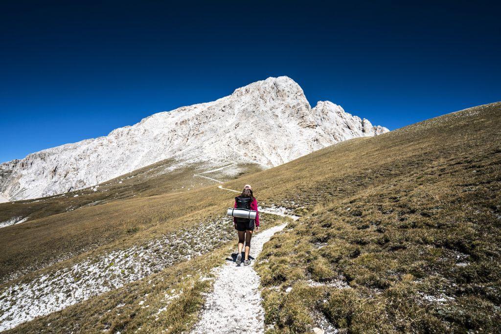Wanderer mit Berg