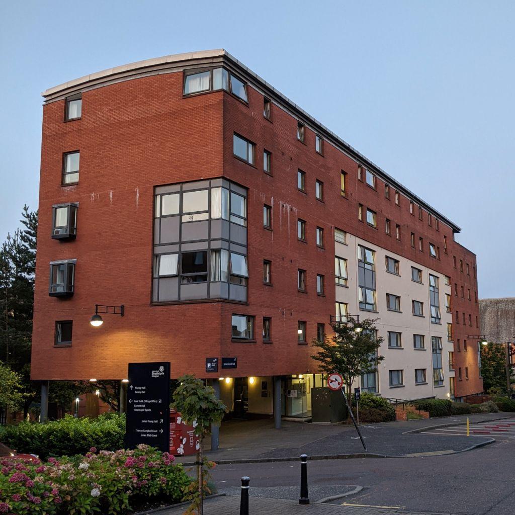 Studentenwohnheim auf dem Campus der University of Strathclyde.