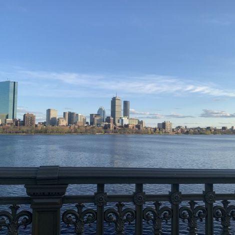 Blick auf die Skyline Bostons