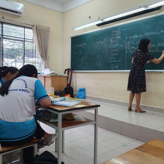 Klassenzimmer in Ho Chi Minh Stadt.
