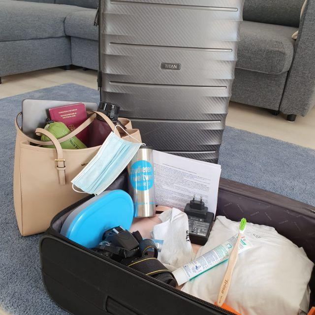 Mein Gepäck für drei Monate in Ungarn mit den wichtigsten Dingen, die ins Handgepäck müssen.