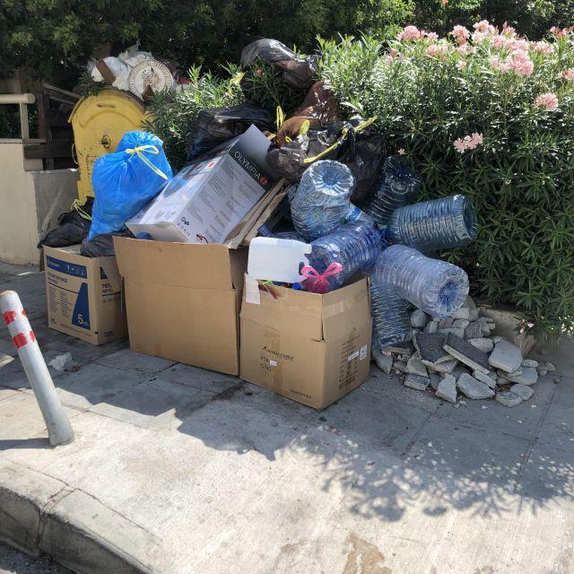 Trennung von Müll kommt hier leider nicht oft vor.