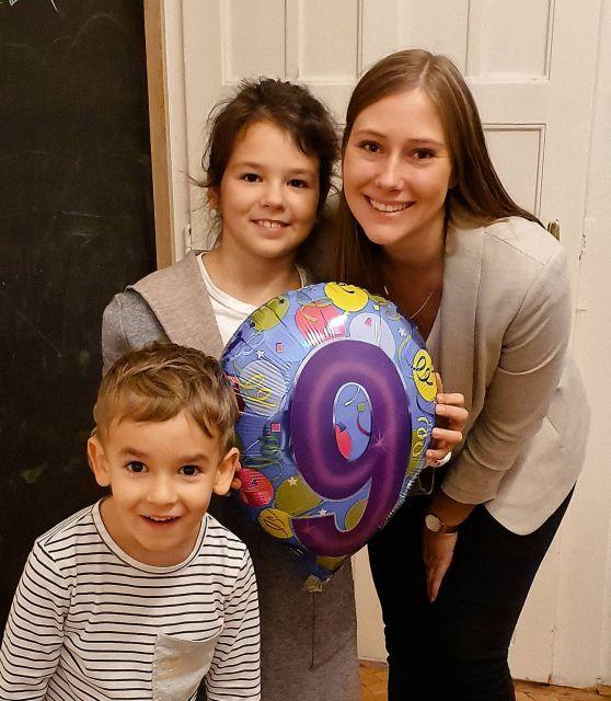 Meine Patenkinder und ich an dem 9. Geburtstag.