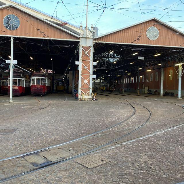 Ein Bahnhof für alte Straßenbahnen.