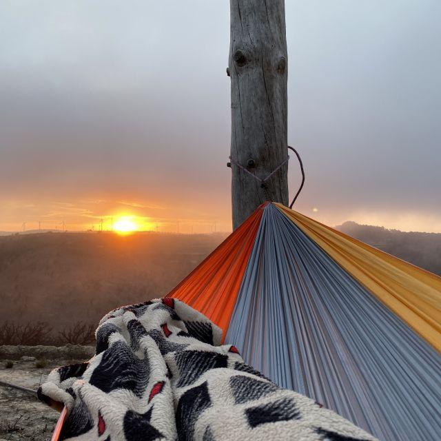 Sonnenaufgang aus der Hängematte.
