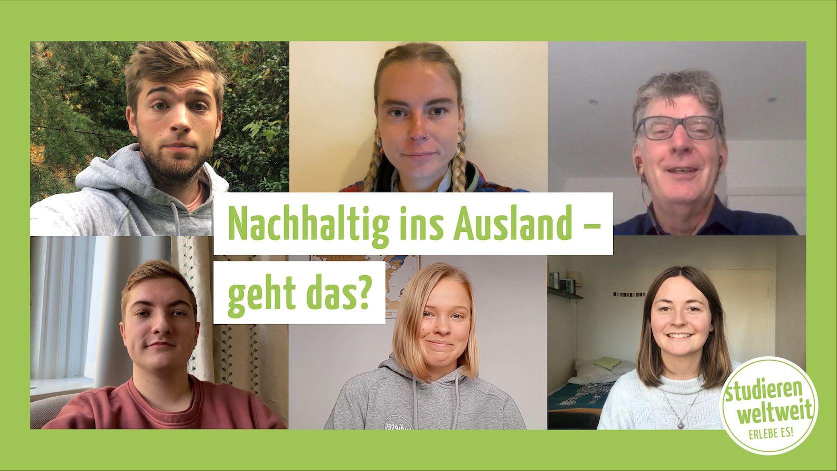 """Videovorschaubild für das Videoformat """"Nachhaltig ins Ausland – geht das?"""""""