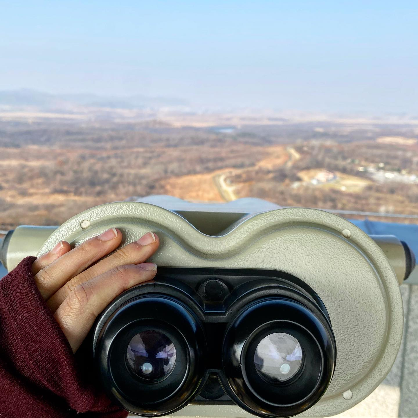 [Looking over at North Korea] A week ago, I visited the Demilitarized Zone…