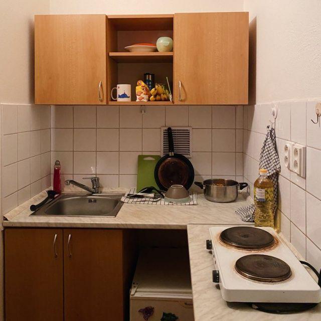 Foto von einer Wohnheimküche