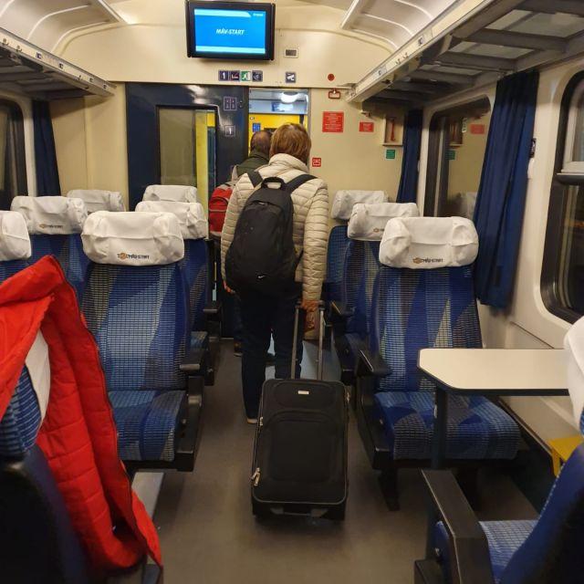 Im Zug auf dem Weg nach Záhony.