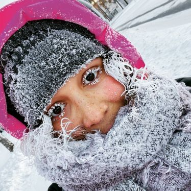 Frozen me ☃️ This is how you look at -30 degrees. …