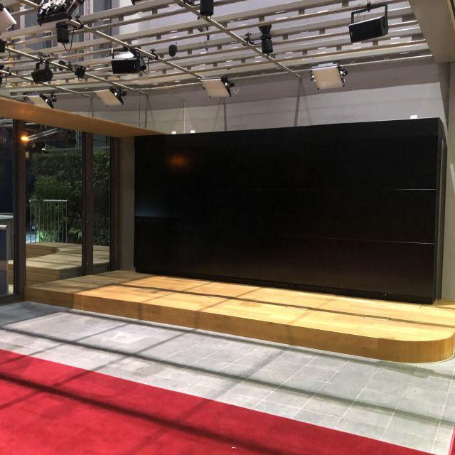 Eingangsbereich mit rotem Teppich