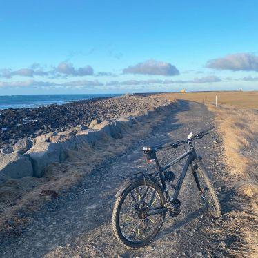 Ungeachtet des eisigen Windes bin ich mit dem Fahrrad an die Küste gefahren.…