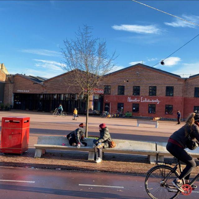 Mit dem Fahrrad ist man schnell im angesagten Teil von Nørrebro.