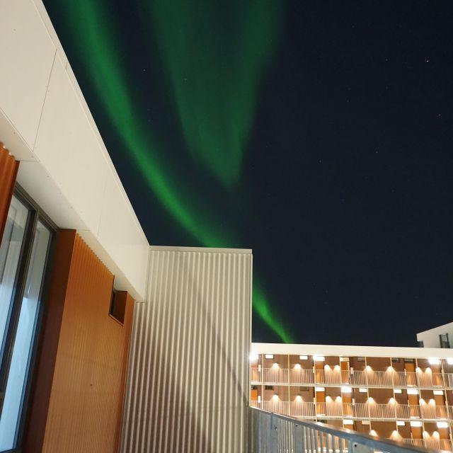 Polarlichter und Wohnheim
