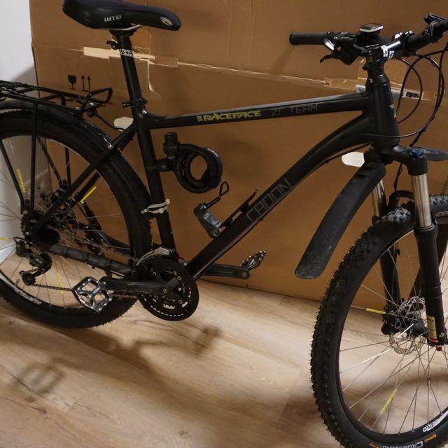 Fahrrad zusammengebaut