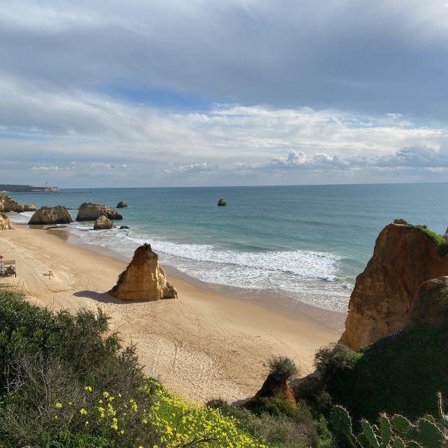 Sandstrand an der Algarve.
