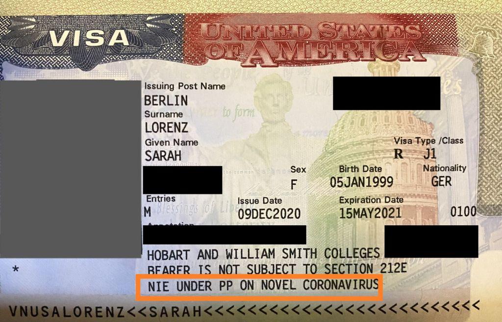 Visum Sarah