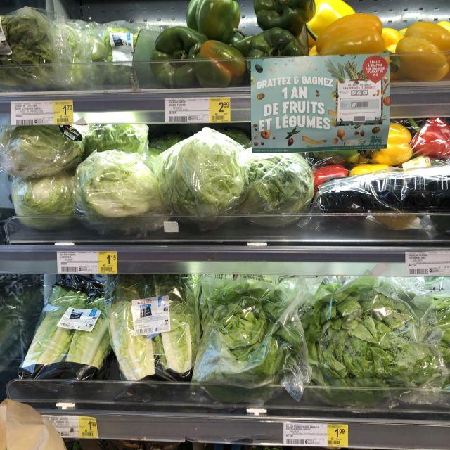 Gemüse welches man für Salat nutzt.