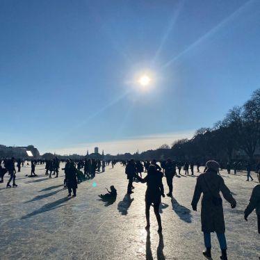 zugefrorener See in Kopenhagen