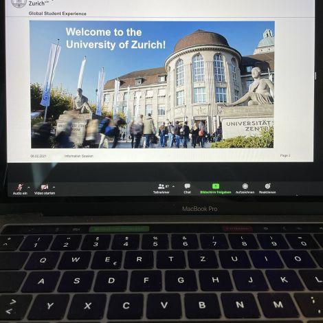 Die Einführungsveranstaltung der uzh fand online über Zoom statt
