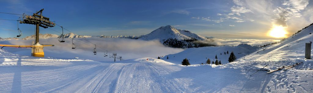 Ski und Alpen panorama