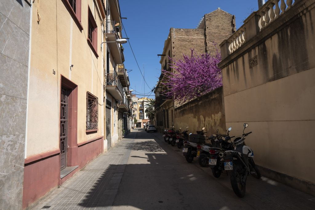 Straße in Barcelonas