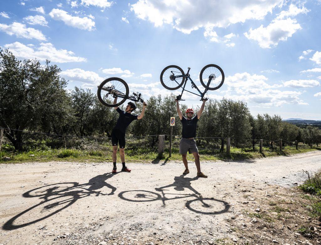 Posen mit Fahrrad