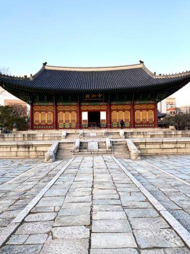 Spaziergang im Deoksogung Palace [덕수궁], ein weiterer Palast Seouls. …