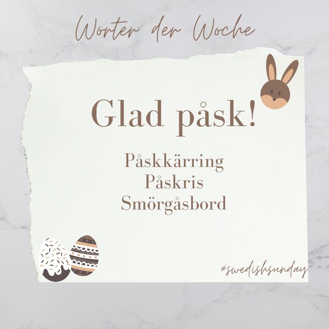 Glad påsk! Heute ist nicht nur #SwedishSunday sondern auch #Ostern. Über drei…