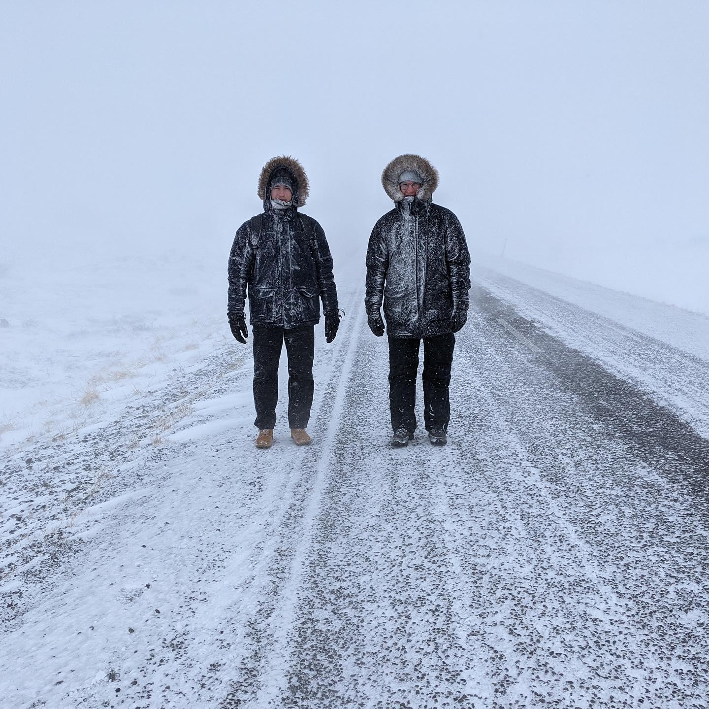 Ein sehr beeindruckender Spaziergang während eines Schneesturms im Norden…