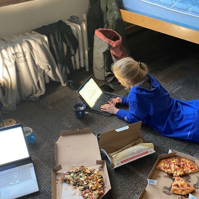 Pizza und Studium gehören zusammen