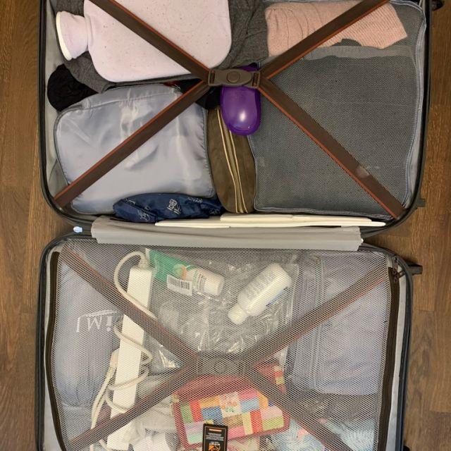 gepackter Koffer von Innen