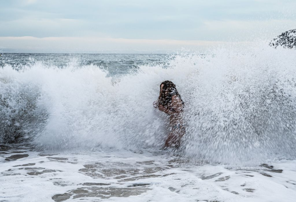 Frau in Wasser
