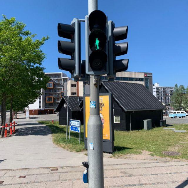Ampelmännchen Odensee als Hans Christian Andersen