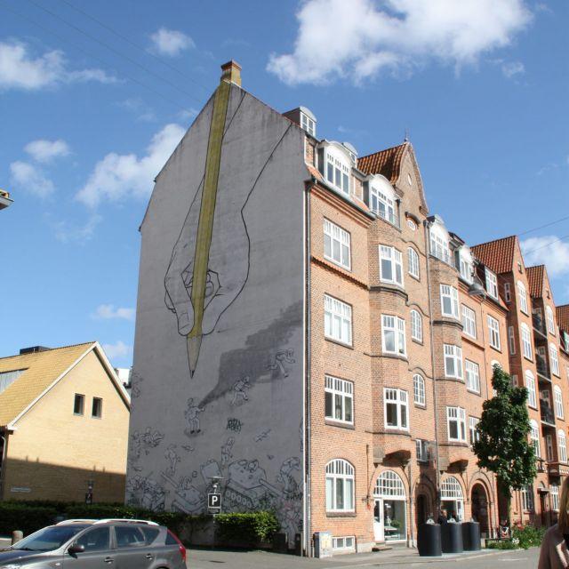 Streetart an einem Haus