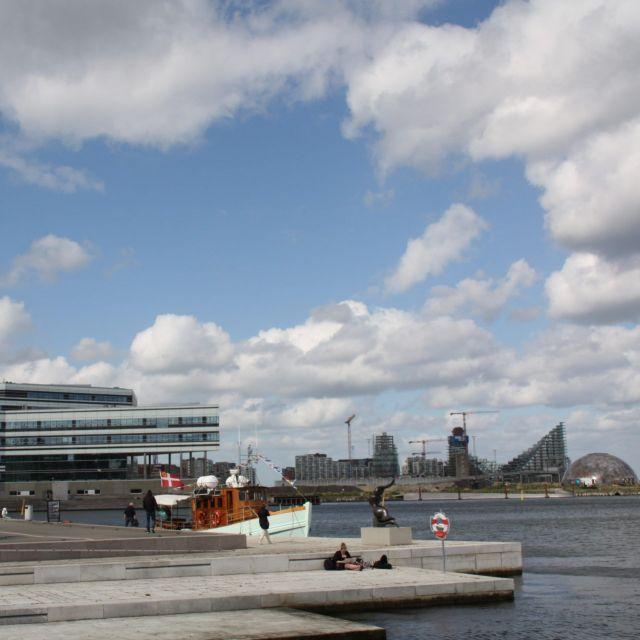 Blick auf den Hafen in Aarhus