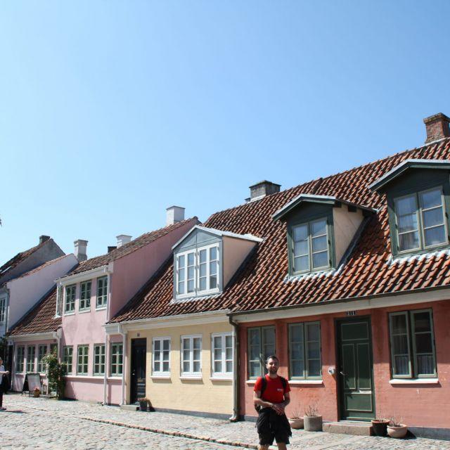 Gasse in Odensee mit alten Häusern