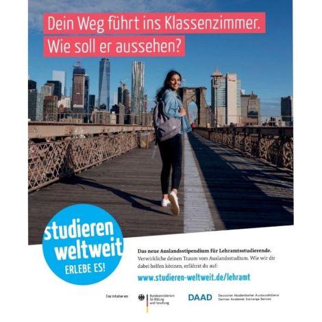 """Poster """"Lehramt.International"""" für Studierende"""