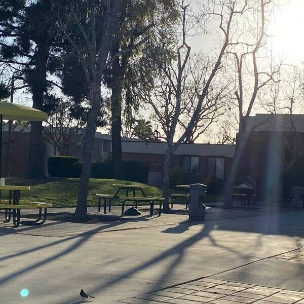 Leerer Campus.