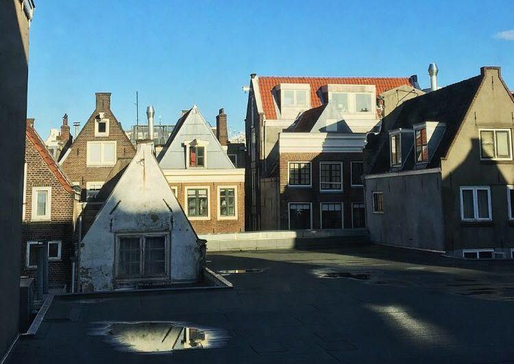 Dächer von Amsterdam in der Sonne