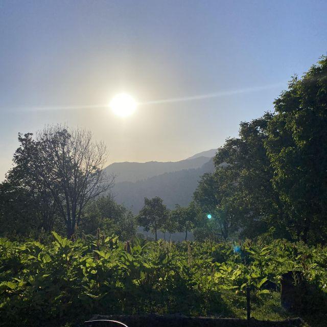 Sonnenuntergang, Berge