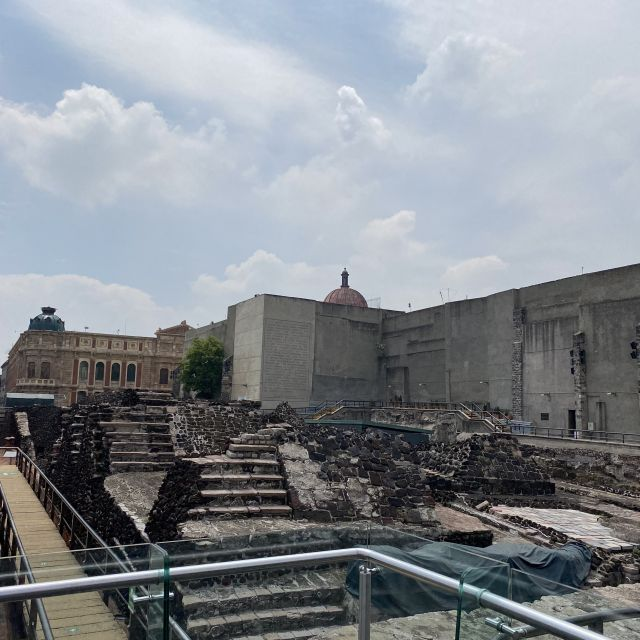 Ausgrabungen des Templo Mayor in Mexiko-Stadt